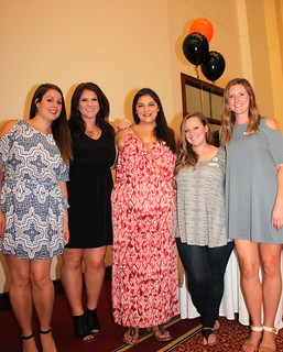 IMG_0951 2017-07-22 8-56pm The Girls of Ames High School class of 2007 10-year reunion L-R Sam Tucker-Sieberg​, Amber Sexton​, Alanna O'Hara​, Morgan McCormick​ and Jessica​ Howe #ameshighclassof2007 #AHS2007tenth #2017jul #171