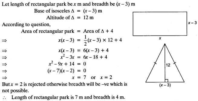Quadratic Equations Chapter Wise Important Questions Class 10 Mathematics 23