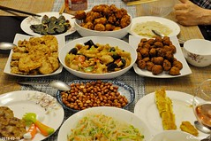 Chinese new year family feast