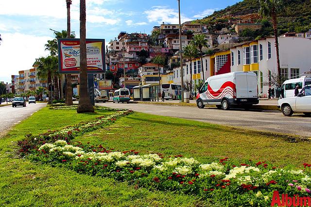 Finike'nin caddeleri çiçek açtı -4
