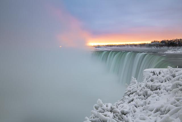 Sunrise at Niagara Falls Ontario