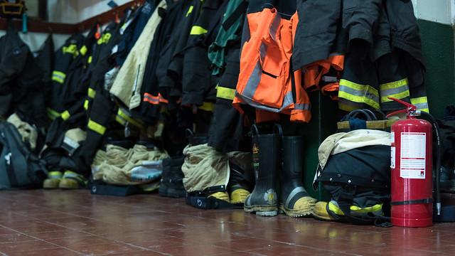 Umkleide der Feuerwehr von San Vicente
