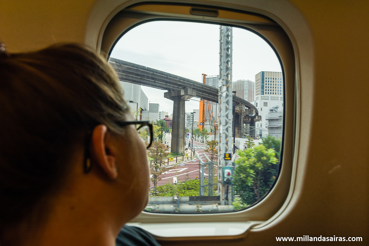Viajando en Shinkansen