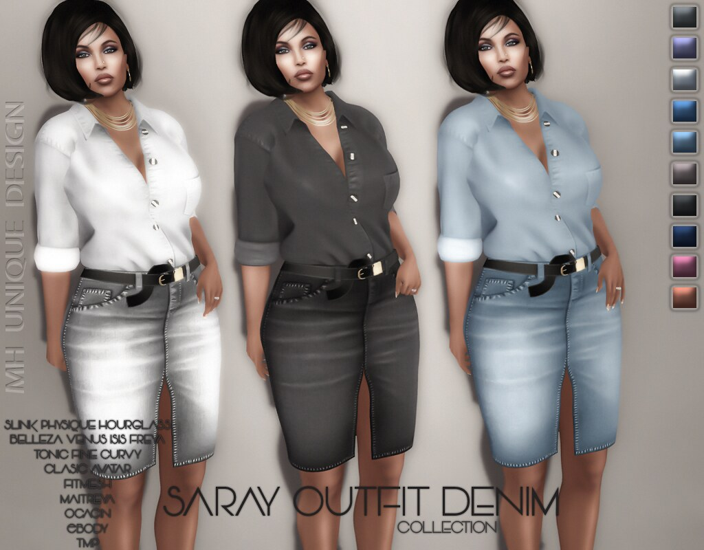MH-Saray Outfit Denim-Collection - TeleportHub.com Live!
