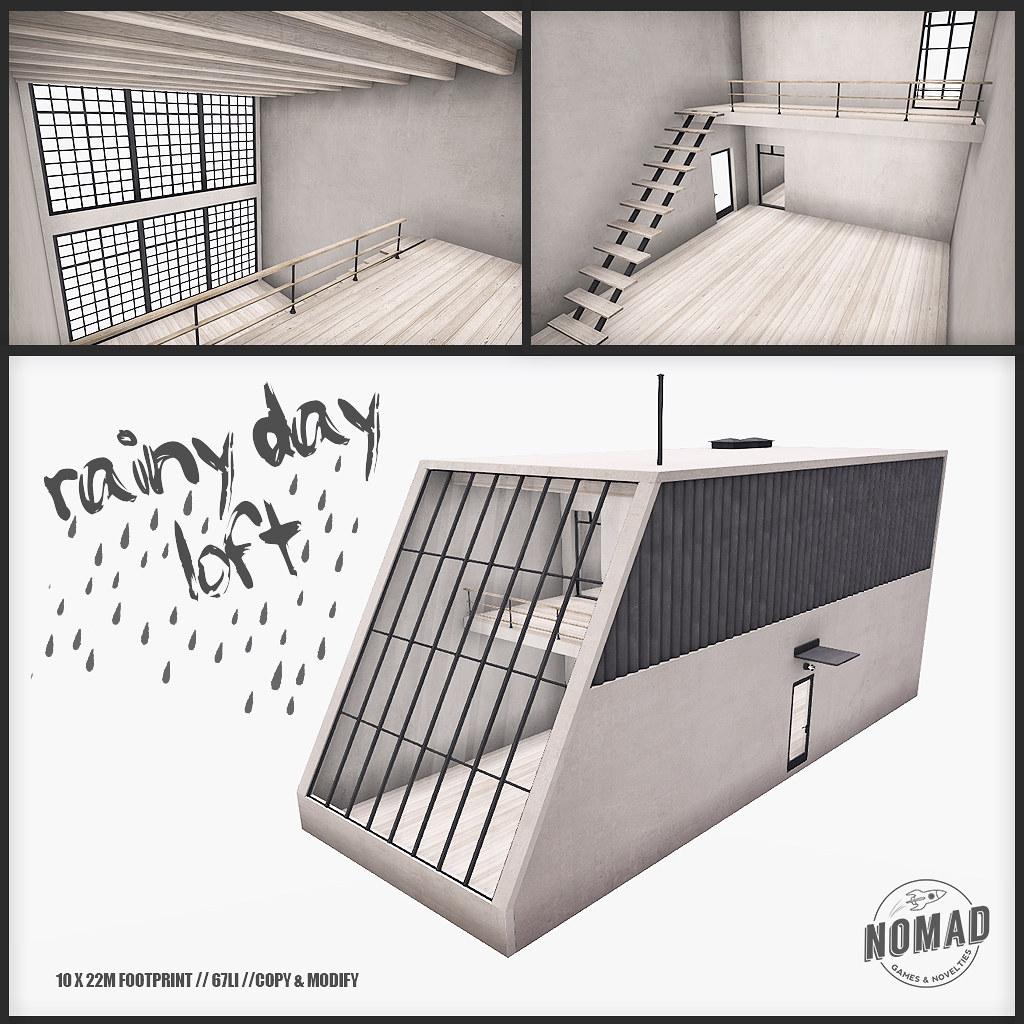 NOMAD // Rainy Day Loft - TeleportHub.com Live!