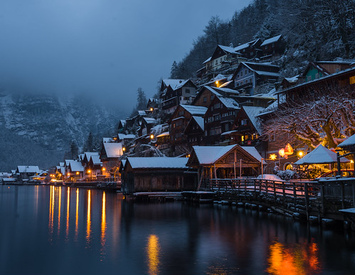 Blue Hour in Hallstatt in Winter from Toni Hoffmann
