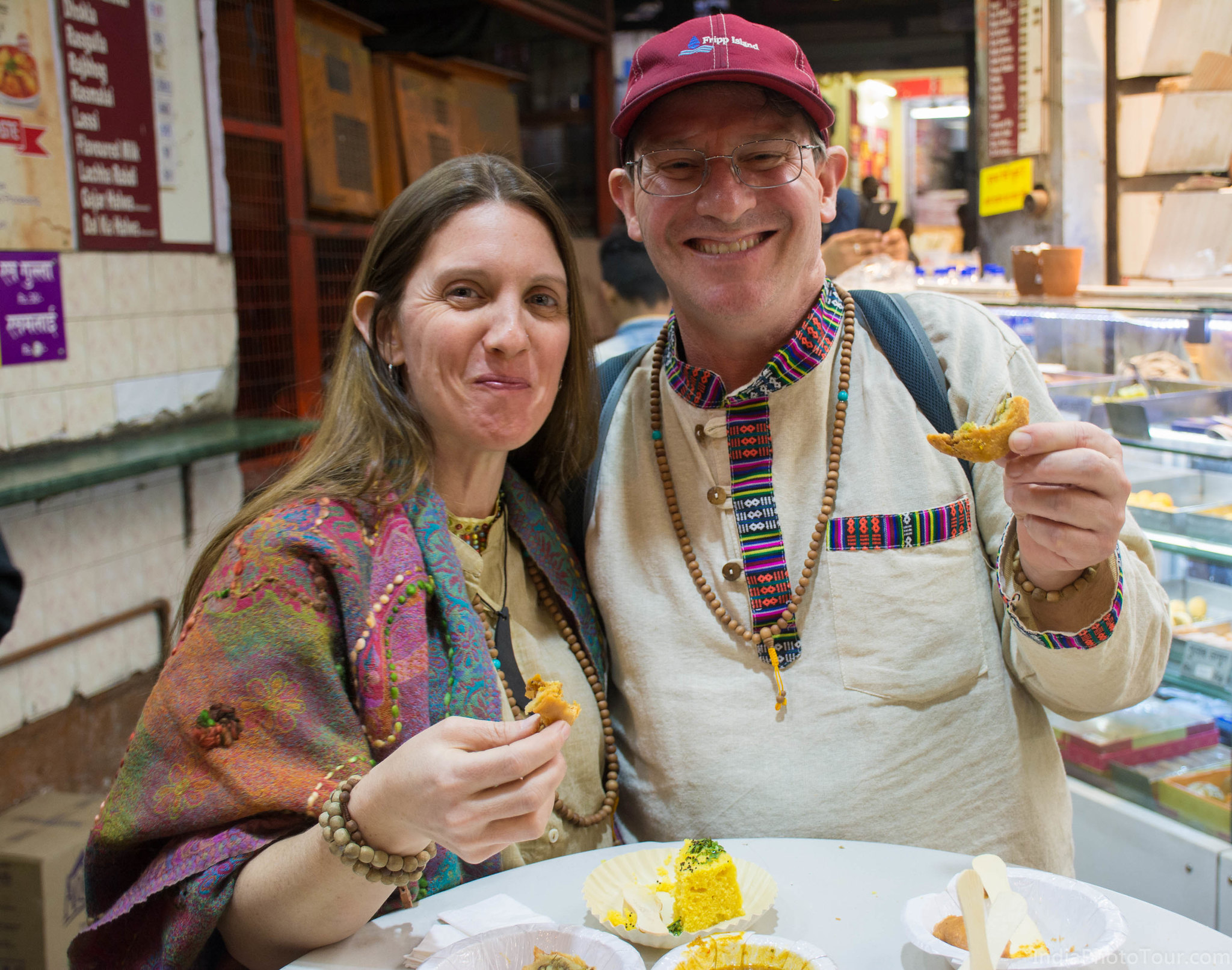 Street food tasting in Old Delhi