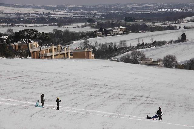 Parco di Veio neve
