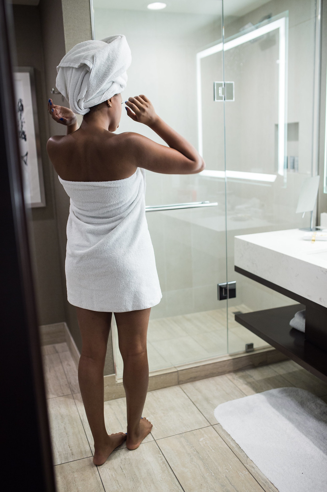 JW Marriott walk in shower