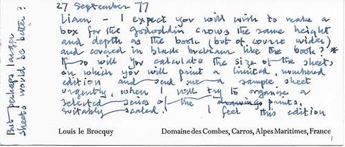 Louis le Brocquy  correspondence