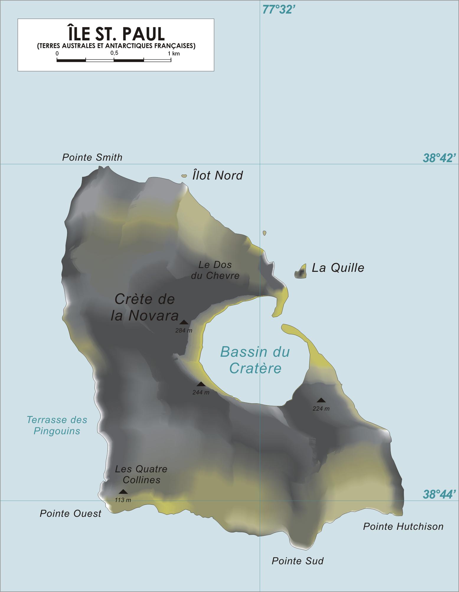 Map of Saint-Paul Island