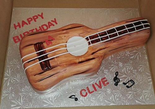 Guitar Cake by Jenna's Cake Boutique