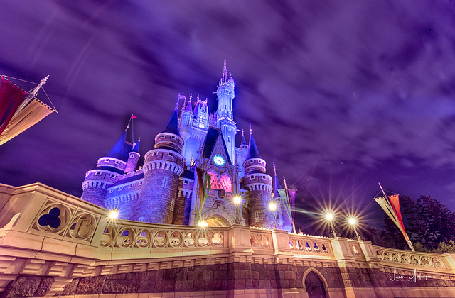 Tokyo Disneyland 2017 59 - Cinderella's Castle Purple Night