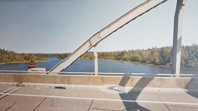 Cofferdam perhaps? At White Lake Narrows. #ridingthroughwalls #xcanadabike #googlestreetview #ontario
