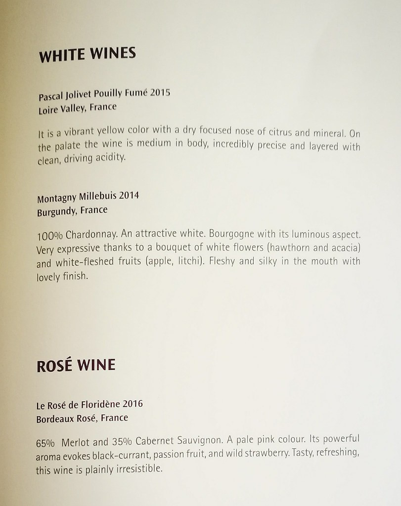 Other wine list