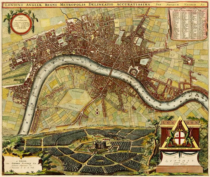 Johannes De Ram & Pieter van der Aa - Londini Angliae Regni Metropolis Delineatio Accuratissima (c.1729)