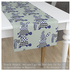 Design Challenge Entry: 'Stack Attack: we can't go on like this! by Su_G': table-runner mockup
