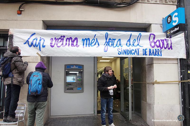 2018_02_28-Ocupación de la sucursal del Sabadell por el sindicato de barri de Poble sec- Manuel Roldán 01