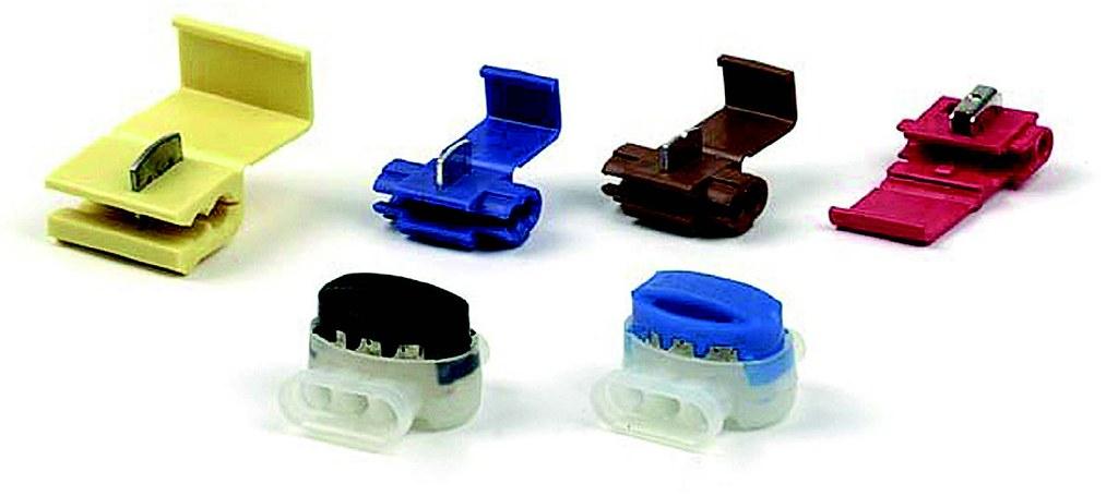 Рис. 1. Электрические соединители с прокалывающим U-образным контактом