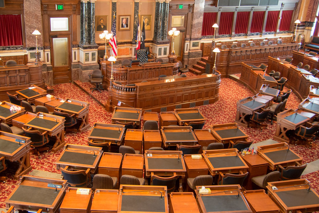 Legislative Chamber at Iowa Capitol Building