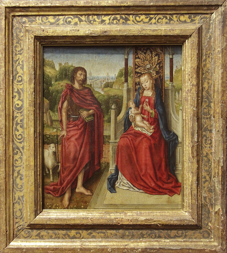 Enthorned Virgin and Child with St. John the Baptist, 1488, Meister of Ursula-Legend