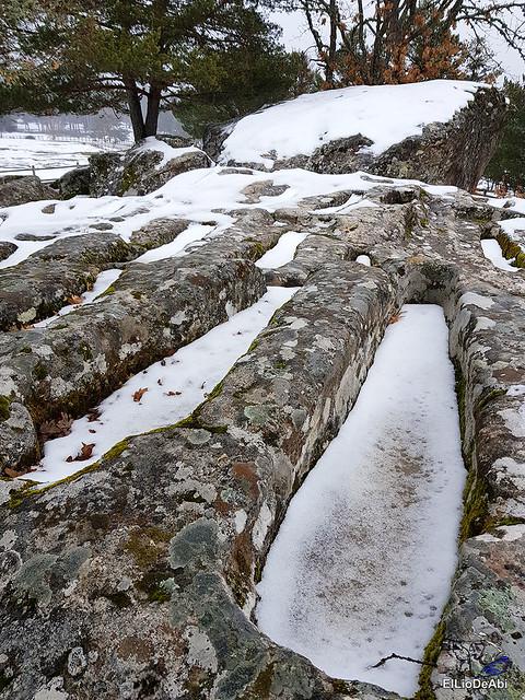 Necrópolis de Revenga y La Cerca con nieve 14