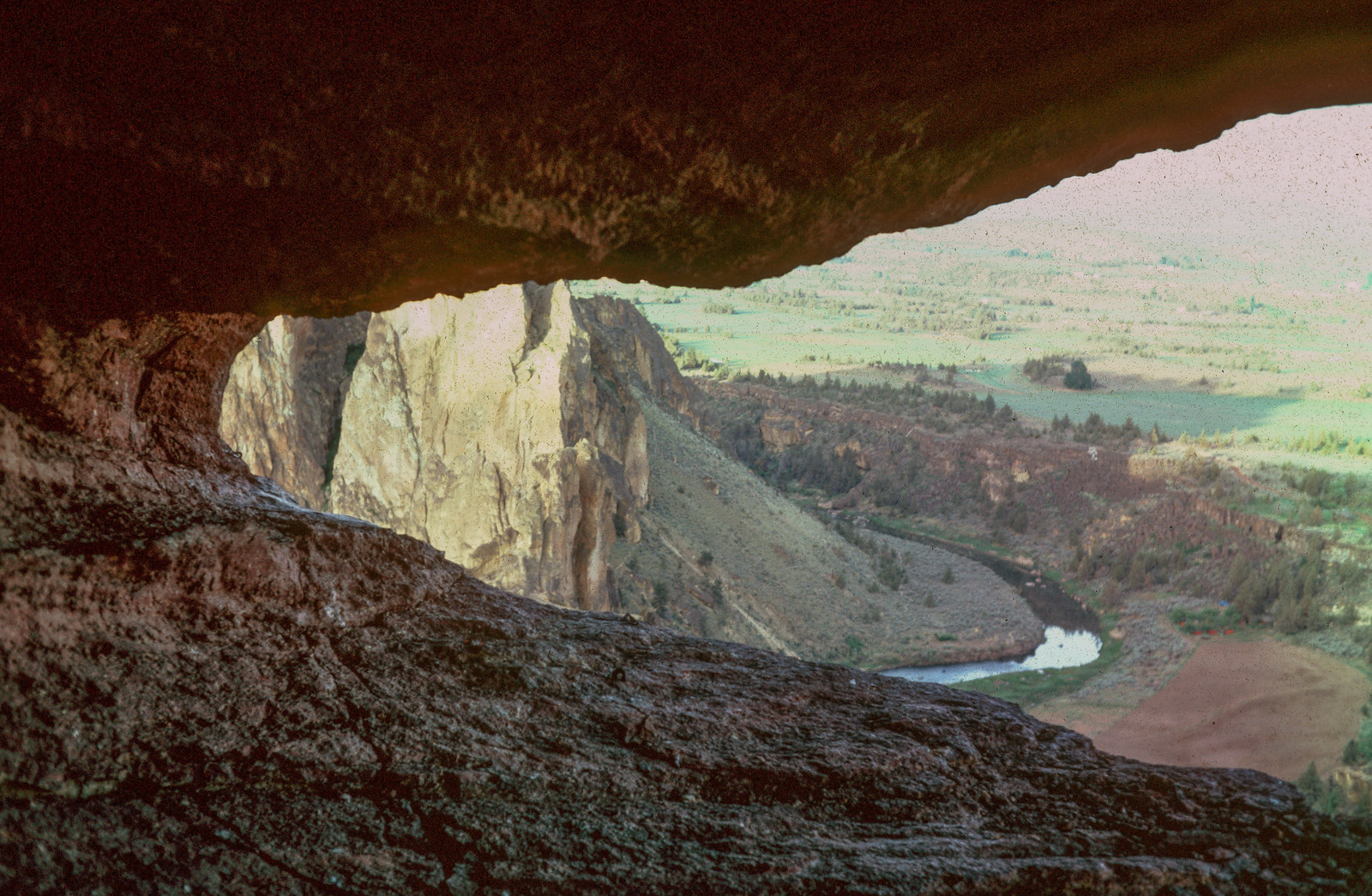 The cave at the back of the monkey's head, west face of Monkey Face