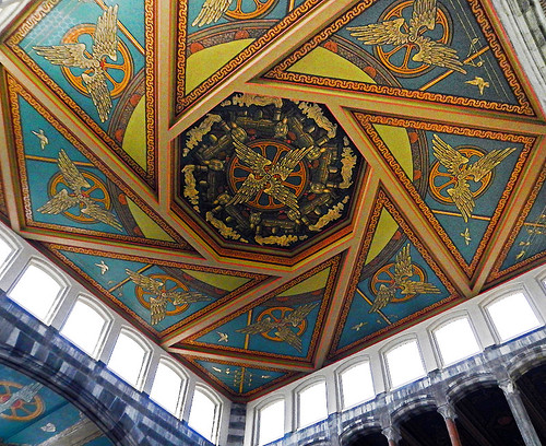 Painted ceiling in the Ghent Train Station, Belgium