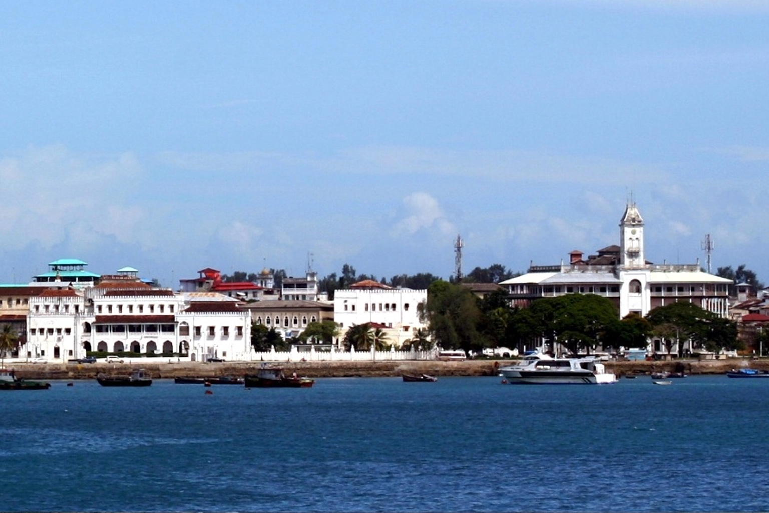 The sultan's palace at Zanzibar.