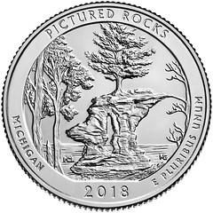 2018 Pictured Rocks quarter reverse