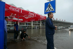 Astrakhan / Астрахань (Russia) - Flood at Railway Station