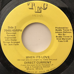DIRECT CURRENT:WHEN ITS LOVE(LABEL SIDE-B)