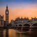 Big Ben & Westminster Bridge at Sunset