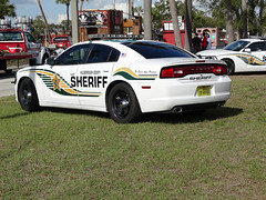 Tampa Bay Hillsborough County Sheriff Car For Sant' Yago Knight Parade In Historical YBOR City