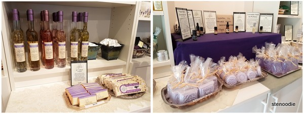 Prince Edward County lavender shop items
