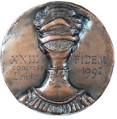 1992 FIDEM Congress Medal reverse