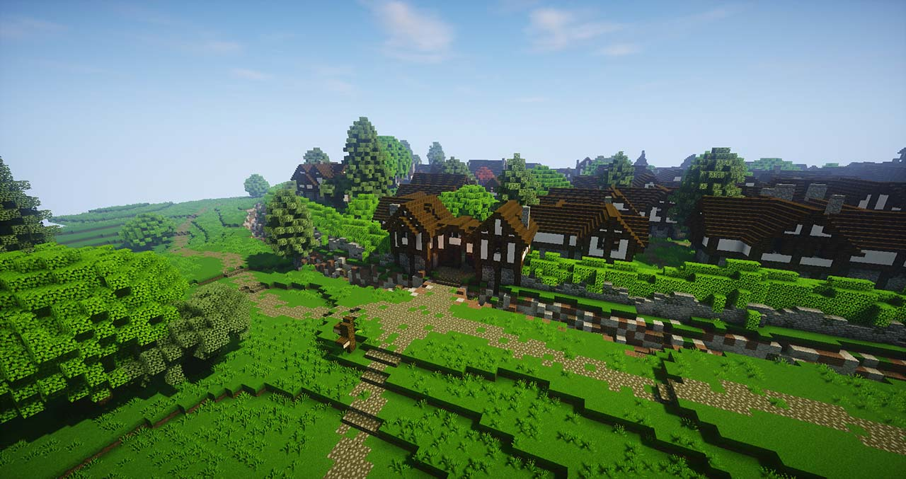 Minecraft Middle Earth By @mcmiddleearth: Bree – The Town Where Hobbits Meet Strider