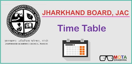JAC Class 10 Time Table