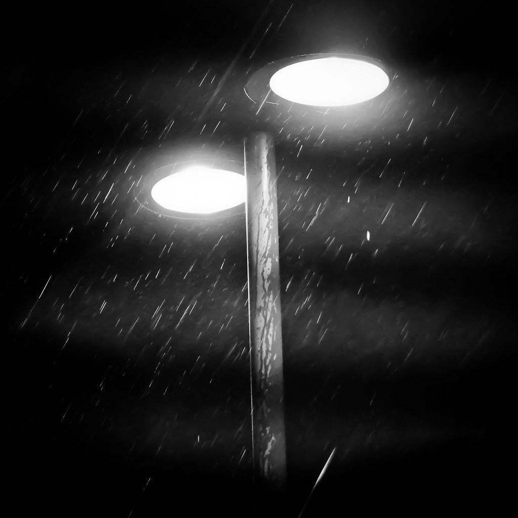 14/365: Streetlamp in rain