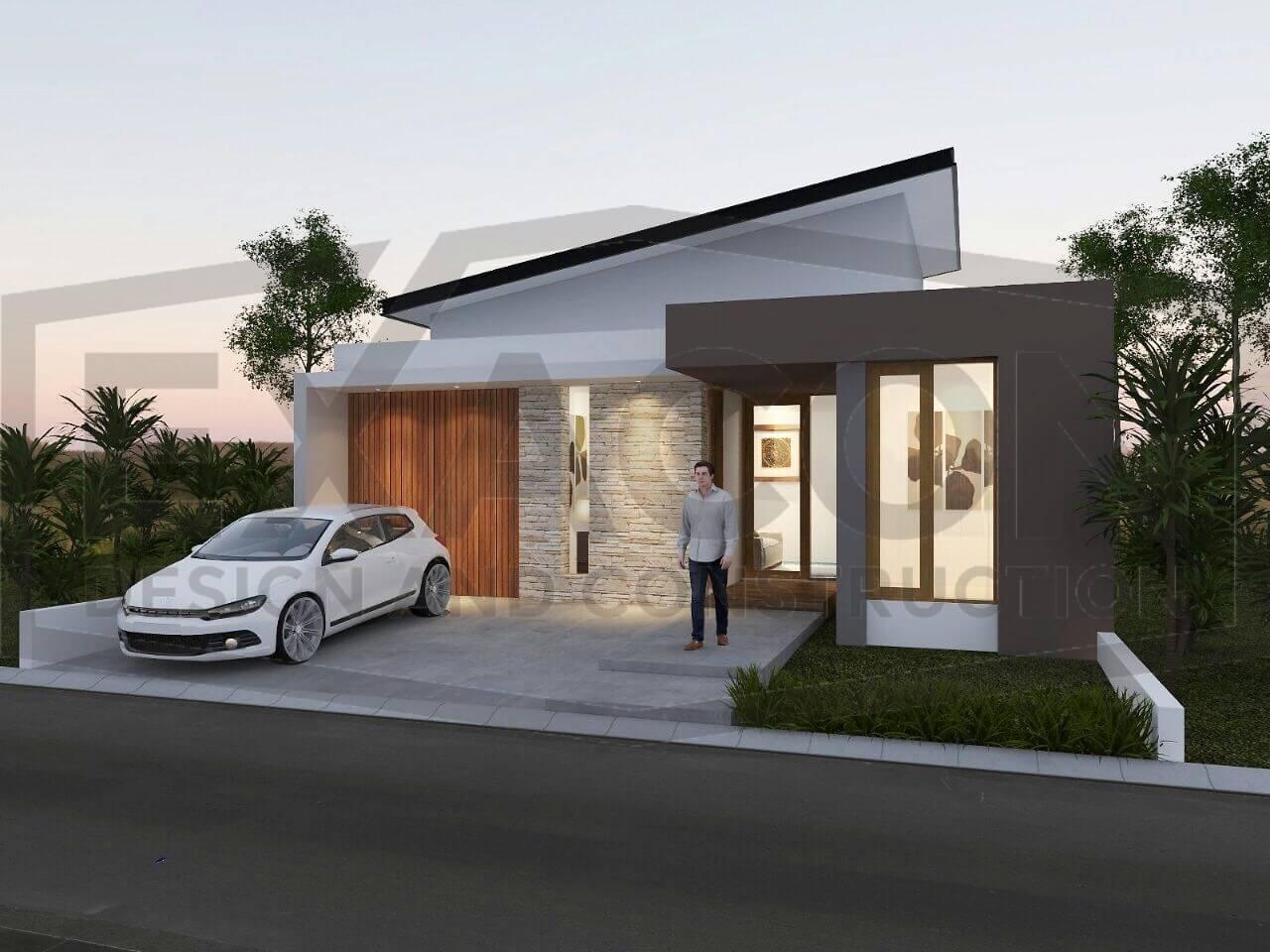 Proyek Desain Rumah Minimalis Ibu Ghania Bogor