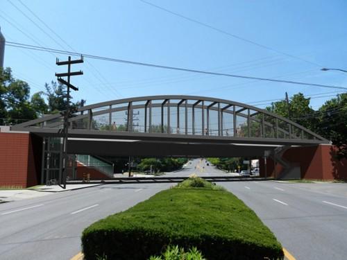Rendering, Purple Line light rail bridge over Connecticut Avenue