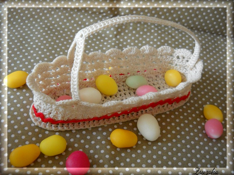 crochet basket, easter
