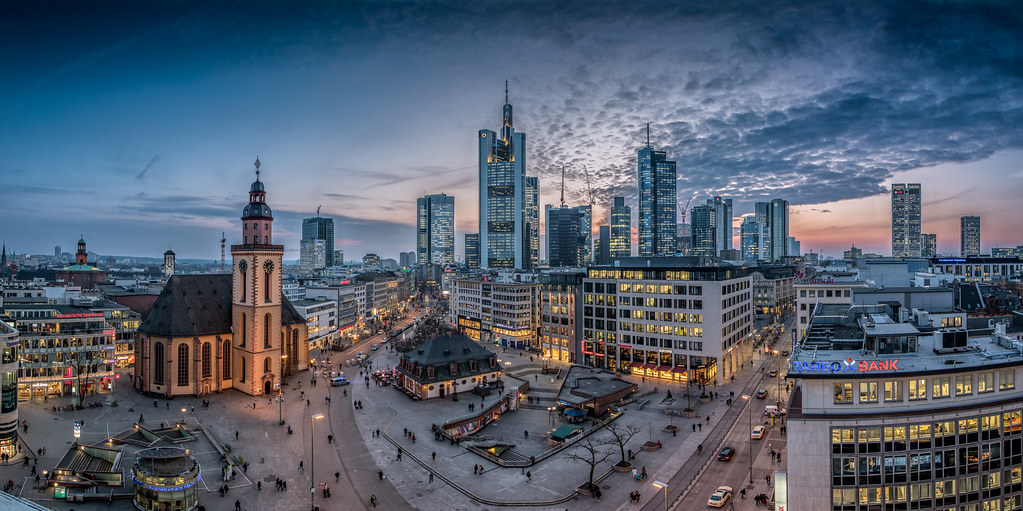 Discuss best modern european skyline part3 page 602 frankfurt skyline by bjoern schmitt auf flickr altavistaventures