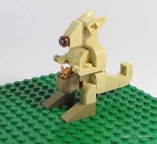 Kangaroo adopted Cinnamon the Bunny <3