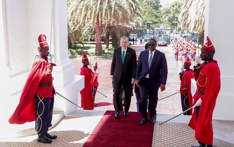 Arrivé du Président Recep Tayyip Erdoğan, Président de la République de Turquie