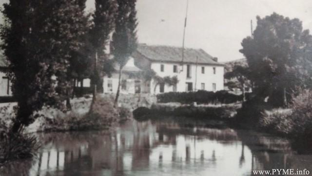 Primera fábrica de Luz de Alba de Tormes, regentada por Bernabé Reyes.
