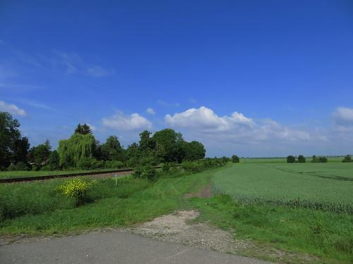 20170531 04 090 Regia Wolken Bäume Feld Eisenbahngleise