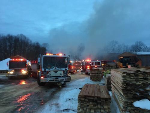 Mulch Pile Fire @ Sawmill