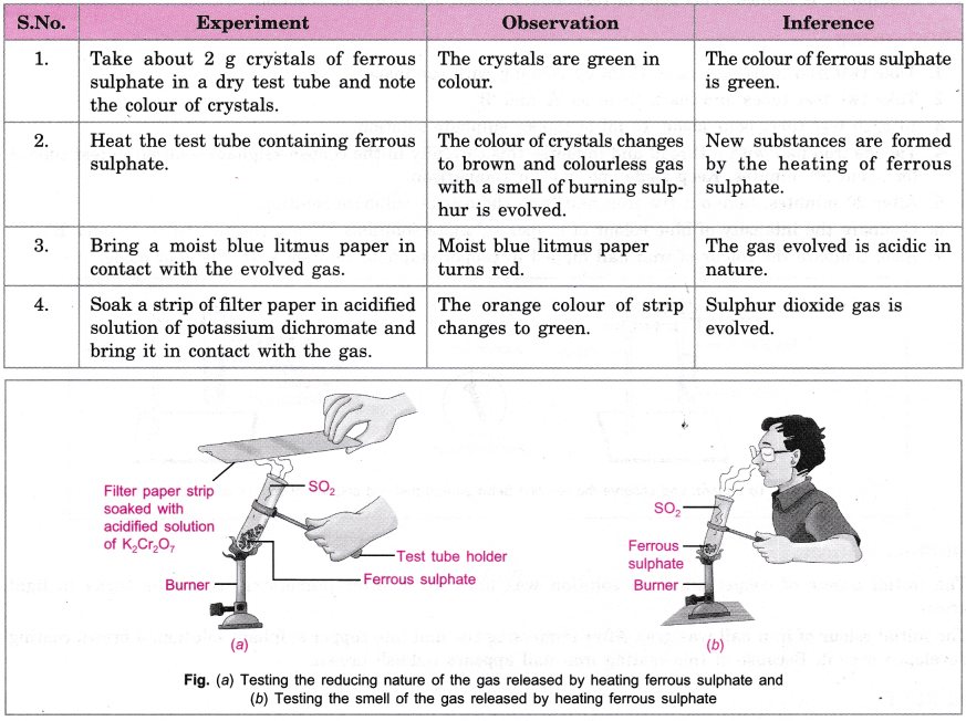 CBSE Class 10 Science Practical Skills – Types of Reactions