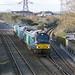 68001 & 68018, 6M63 Worle Junction.